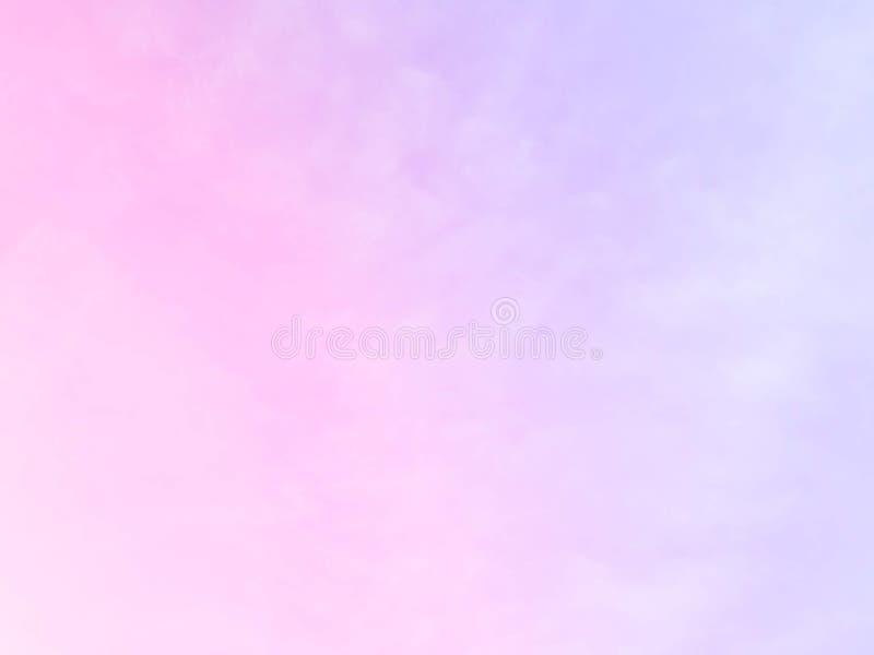 Weiche Wolken Im Himmel mit sanften Pastellgradienten lizenzfreie stockfotos