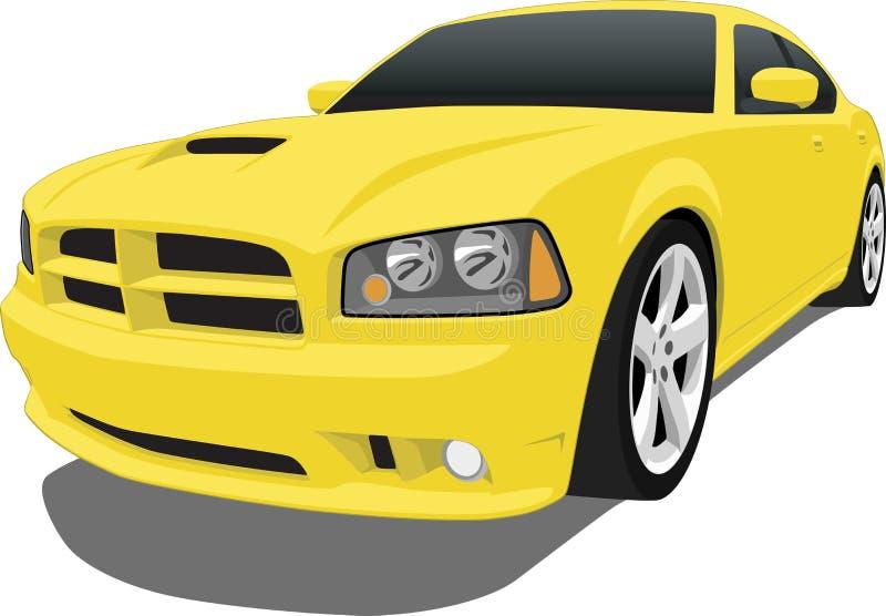 Weichen Sie der Challenger-Limousinen aus lizenzfreie abbildung