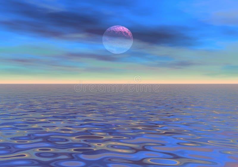 Weicher Abend auf dem Meer lizenzfreie abbildung