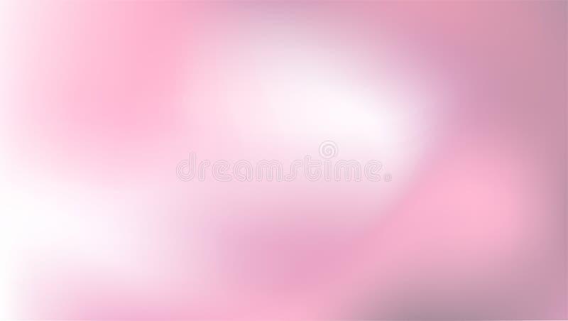 Weicher abstrakter rosa Hintergrund im Aquarellmalstil Greifen Sie Hintergrund, glatte unscharfe Steigung mit dem Mischen von ine vektor abbildung