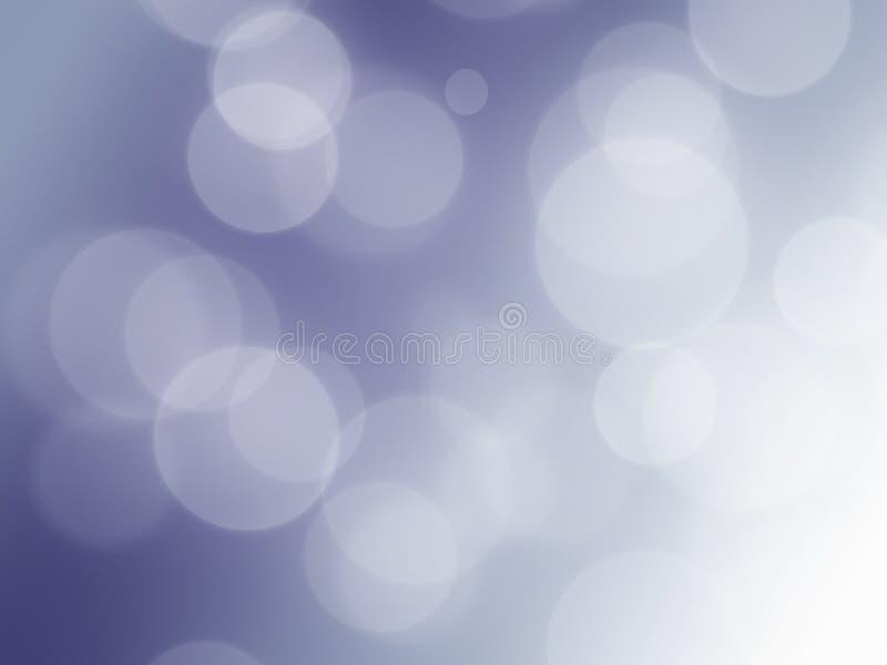 Weicher blauer Frühling beleuchtet Hintergrund-Unschärfe stock abbildung
