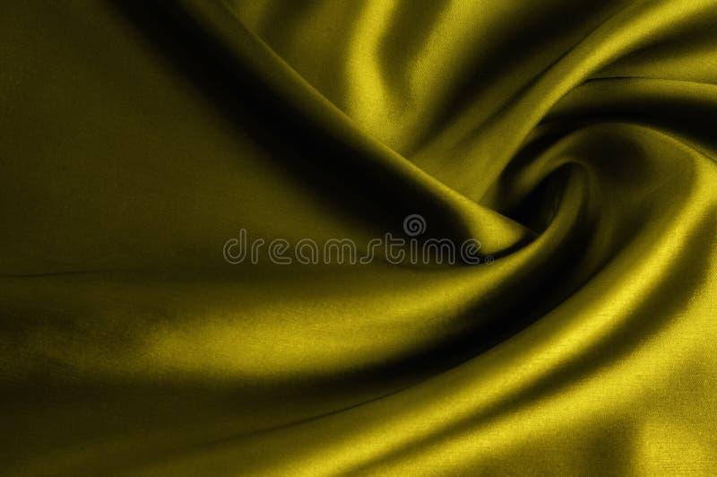Weicher Fokus Beschaffenheit, Muster Stoffseidengelb Senf gewaschen stockbild
