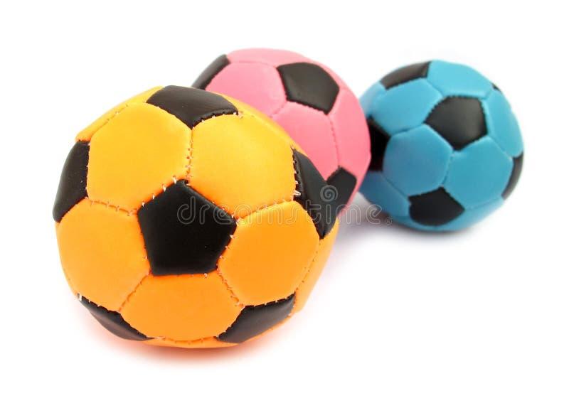 Weicher Fußball der Kugeln für das Spielen Innen stockbilder