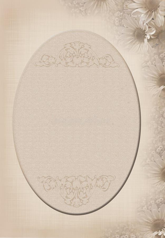 Weicher Gänseblümchenrand des Sepia lizenzfreie abbildung
