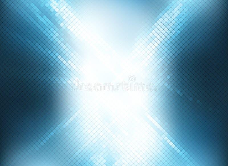 Weicher Hintergrund des blauen weißen Mosaikhintergrund-Lichtes für Design FO stock abbildung