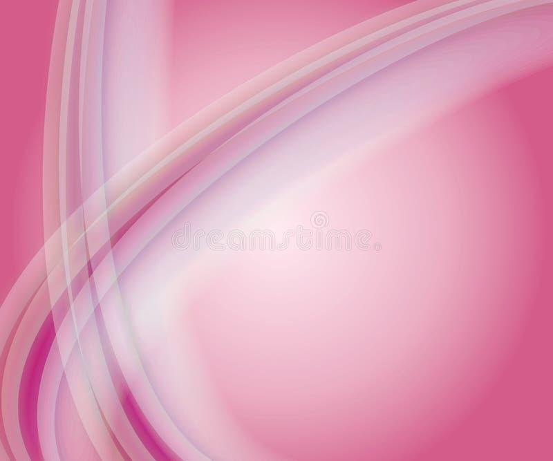 Weicher rosafarbener Swoosh Hintergrund vektor abbildung