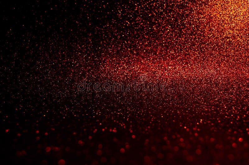 Weiches Bildzusammenfassung bokeh dunkelrot mit hellem Hintergrund Rote, kastanienbraune, schwarze Farbnachtlichteleganz, glatter lizenzfreies stockfoto