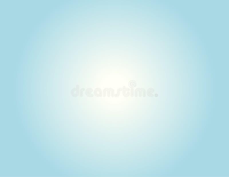 weiches Pastellblau mit weißer Steigung für Hintergrund lizenzfreie abbildung