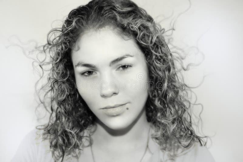 Weiches Portrait des jugendlich Mädchens stockbild