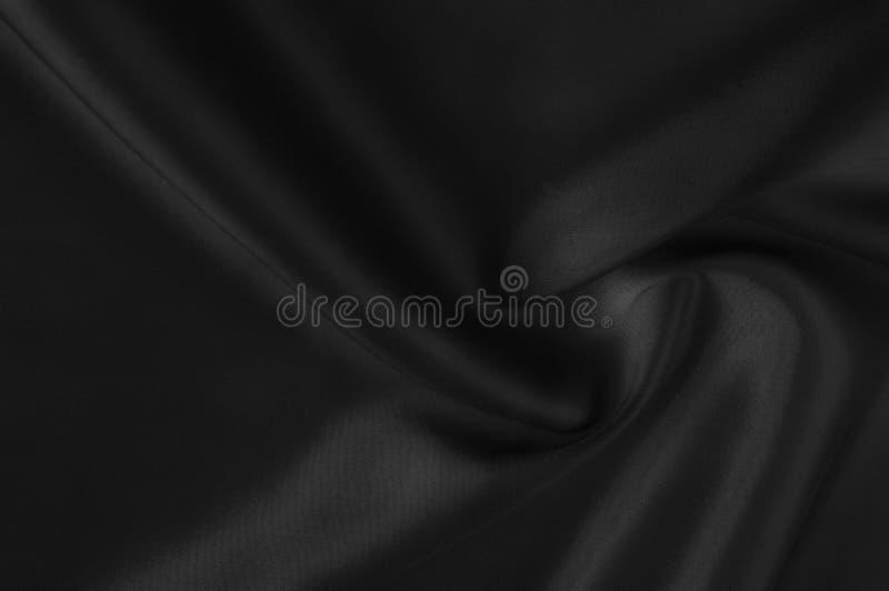 Weichzeichnungsstoff-Seidenschwarzes Zum Mitnehmen diese Schwarzes gewaschene Seide! T lizenzfreie stockfotos