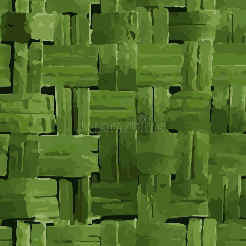 Weidengras Nahtloses Muster in der abstrakten Art stock abbildung