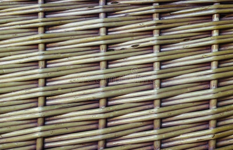 Weidenkorb-Beschaffenheitsgewirrmuster lizenzfreies stockfoto