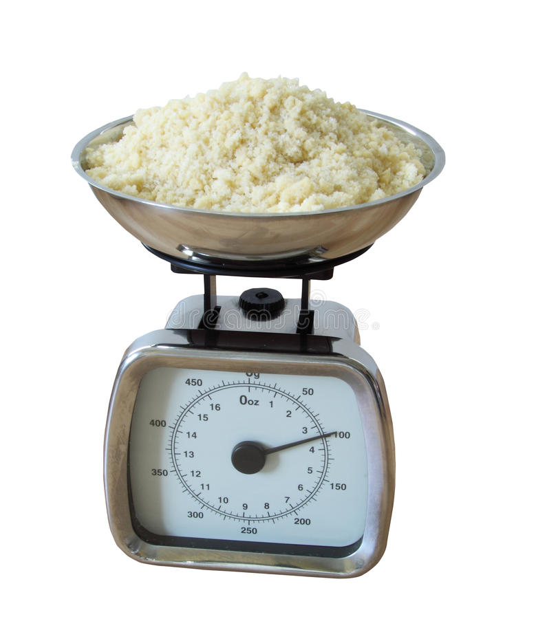 Weighing baking ingredients stock photo image of crumble for Kitchen scale for baking
