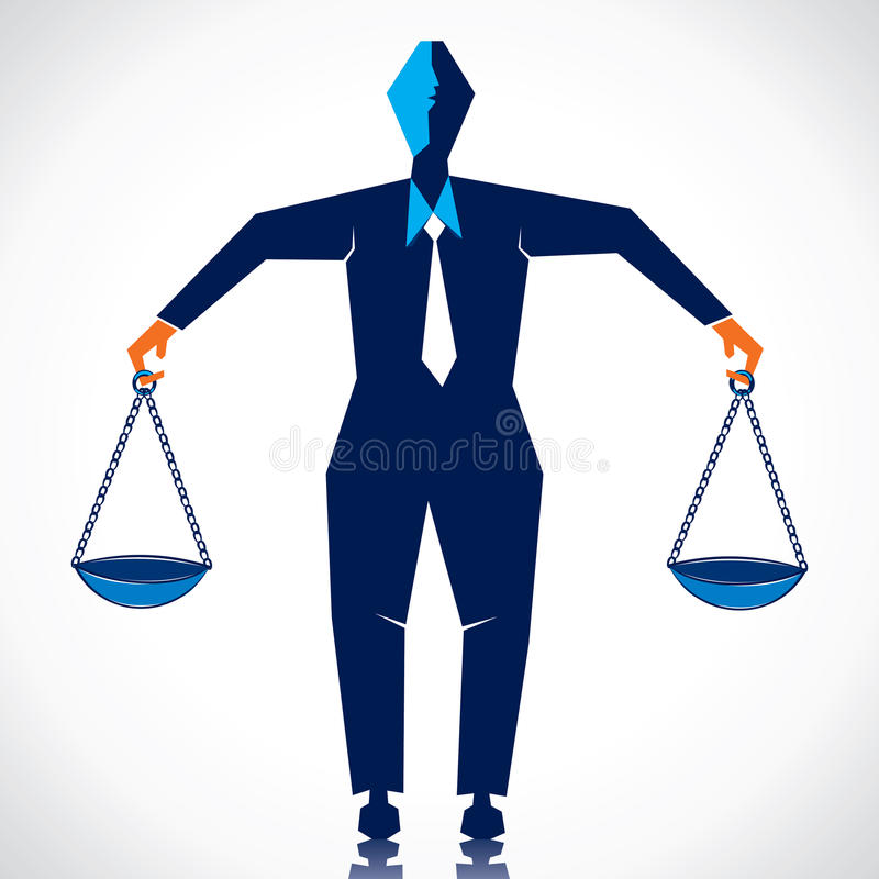 Download Weighing on both hand stock vector. Image of libra, shining - 27758366