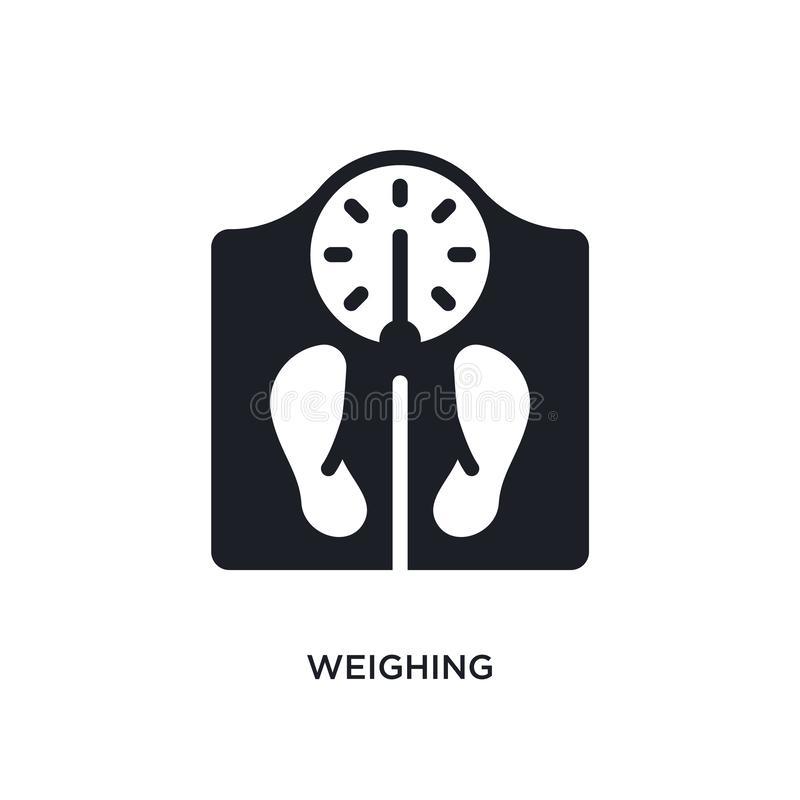 Weighing isolated icon. simple element illustration from electronic devices concept icons. weighing editable logo sign symbol. Design on white background. can stock illustration