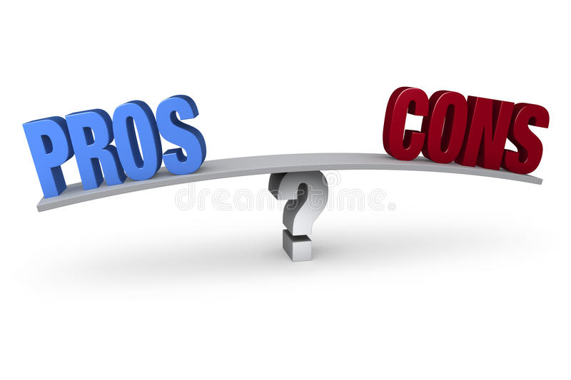 Weighing The Pros And Cons royalty free illustration