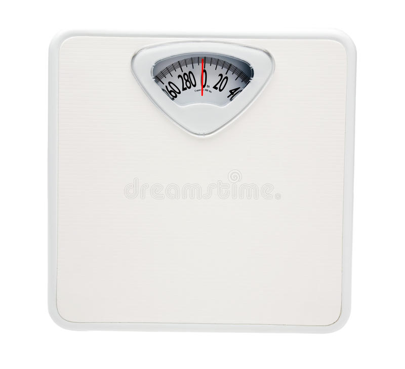 Weighing scale. Isolated over white stock photo