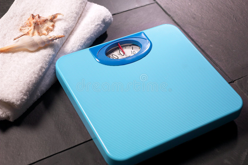 Weighing scale. With nice background stock image