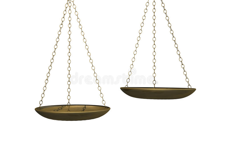 Weighing Scales royalty free illustration