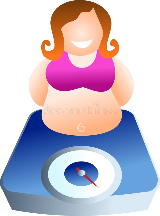 Weighing scales stock illustration