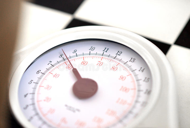 Weighing scales stock image