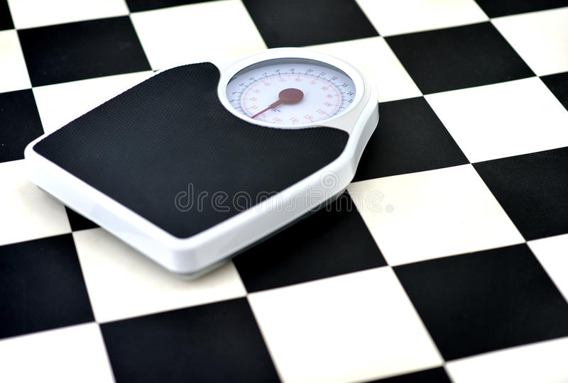 Weighing scales royalty free stock image