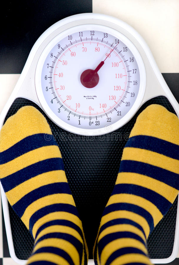 Weighing scales royalty free stock photography