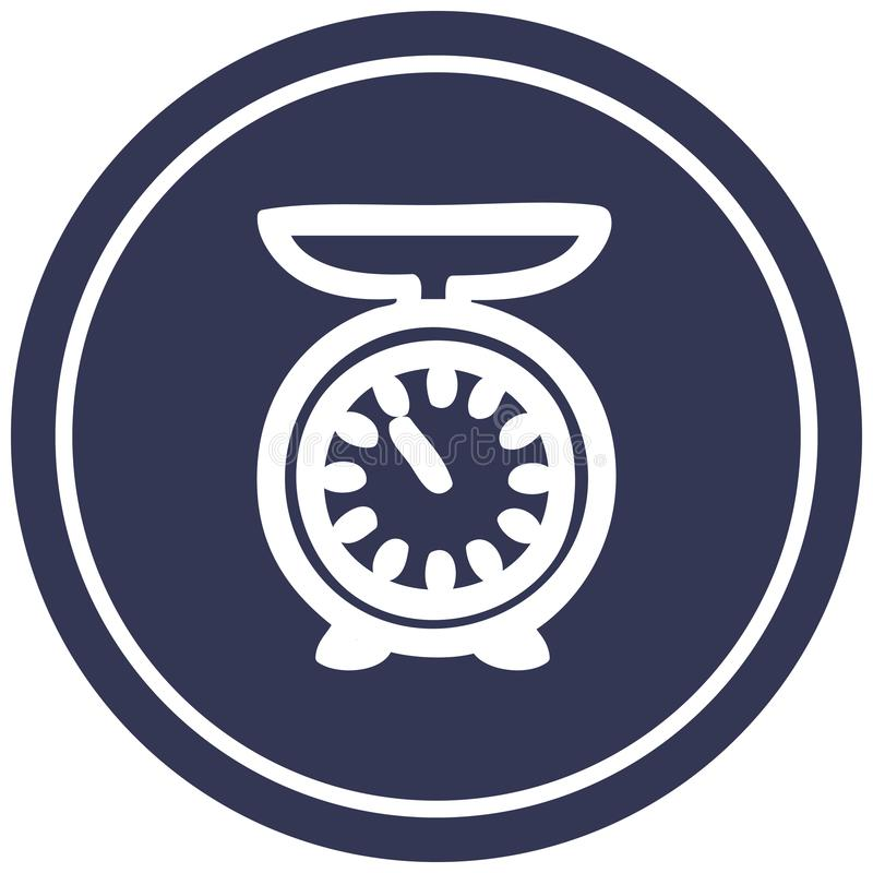 weighing scales circular icon stock illustration