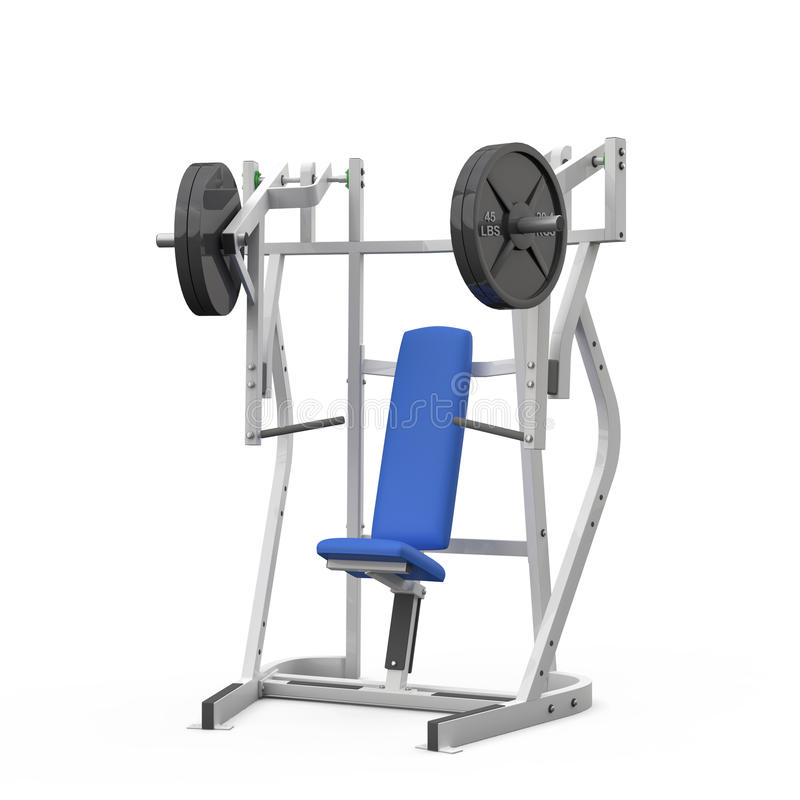 Weight bench for chest seated