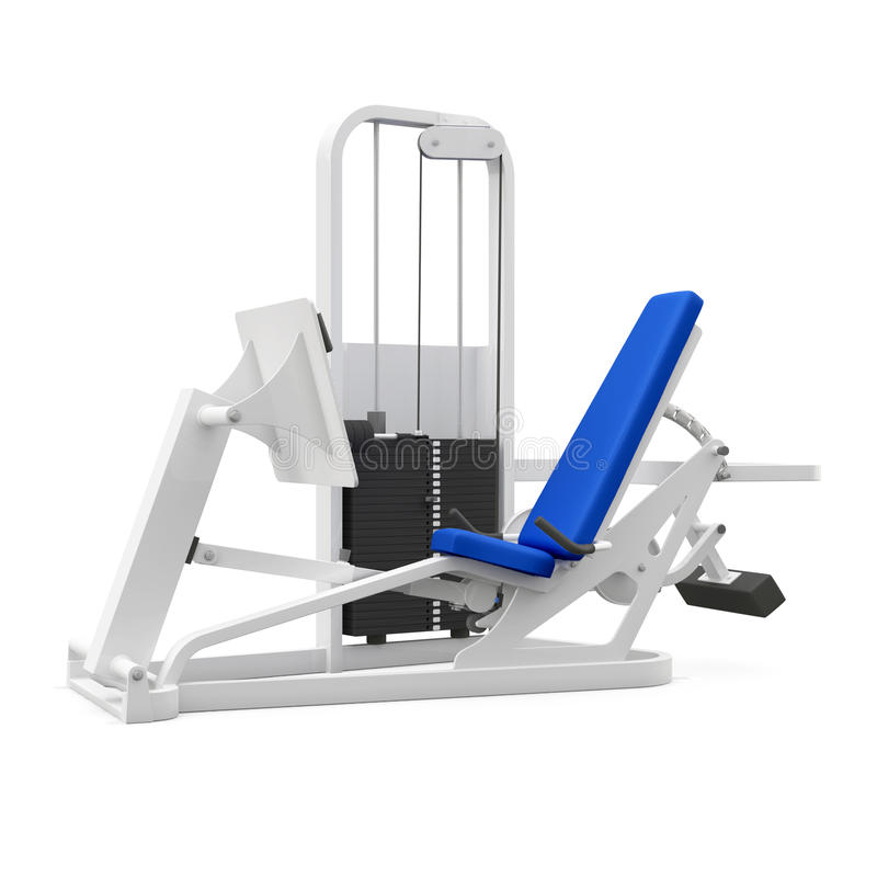 Download Weight bench for legs stock illustration. Illustration of active - 25946760