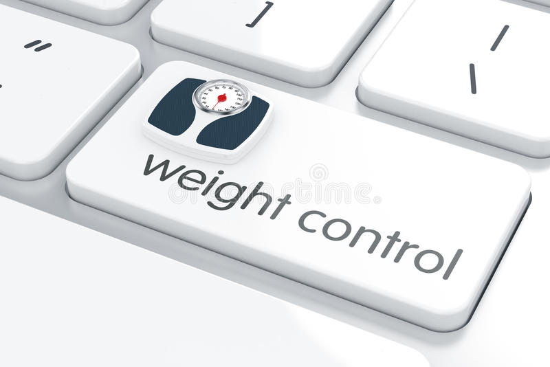 Weight control concept vector illustration