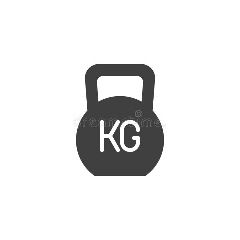 Weight kg vector icon. Filled flat sign for mobile concept and web design. Gym Weight glyph icon. Symbol, logo illustration. Vector graphics royalty free illustration