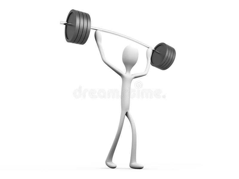 Download Weight lifter stock illustration. Illustration of metal - 26117448