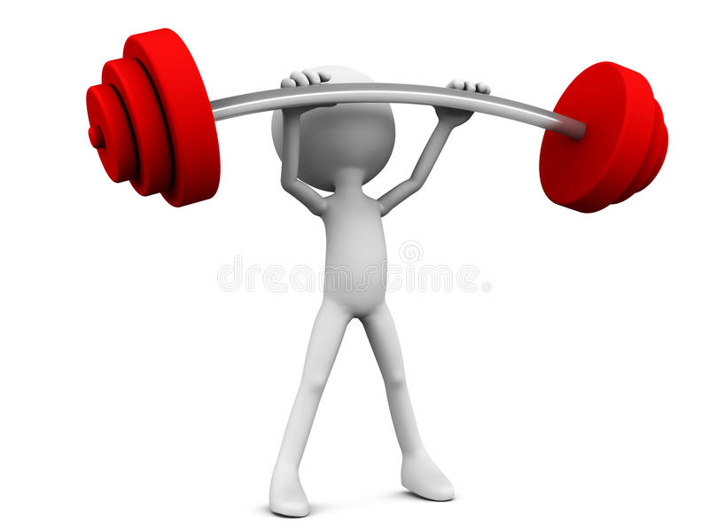 Download Weight lifter stock illustration. Image of background - 28379023