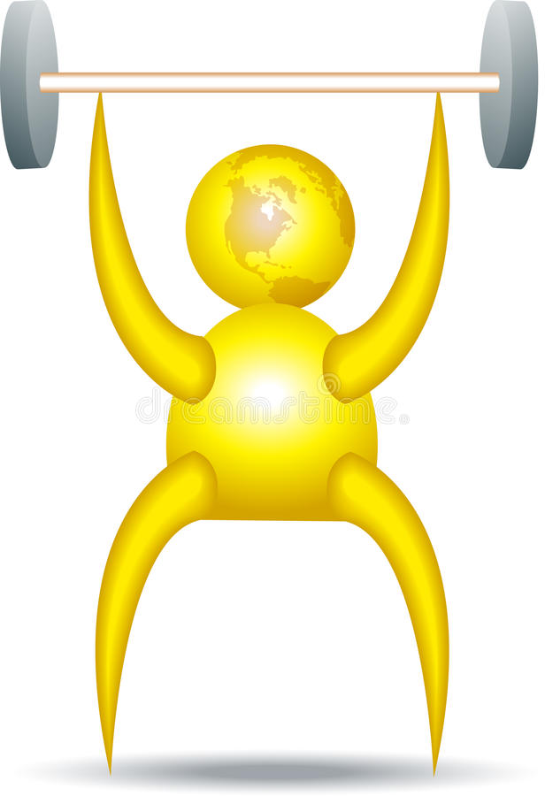 Download Weight lifting stock vector. Illustration of funny, exercise - 12296854