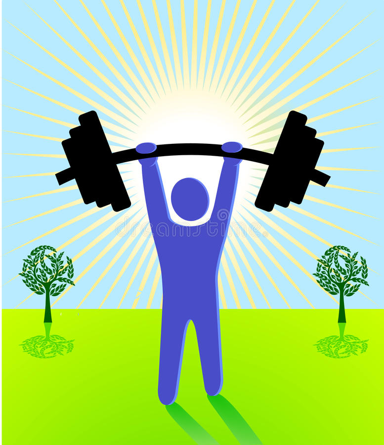 Weight lifting. Heavy sport sign royalty free illustration