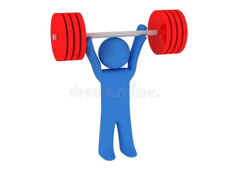 Weight-lifting royalty free stock photography