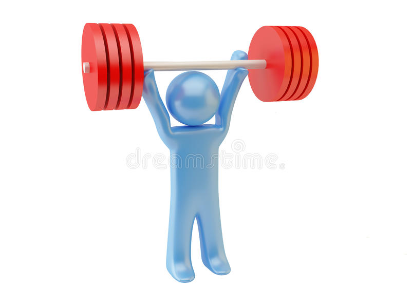 Download Weight-lifting stock illustration. Image of weight, illustration - 9862417