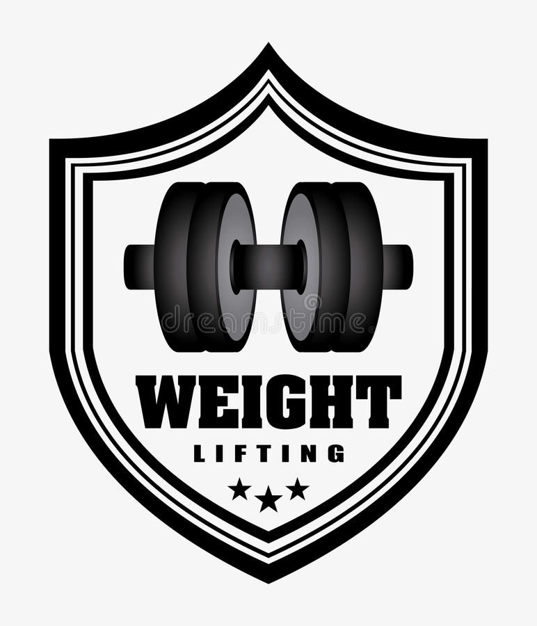 Weight lifting stock illustration