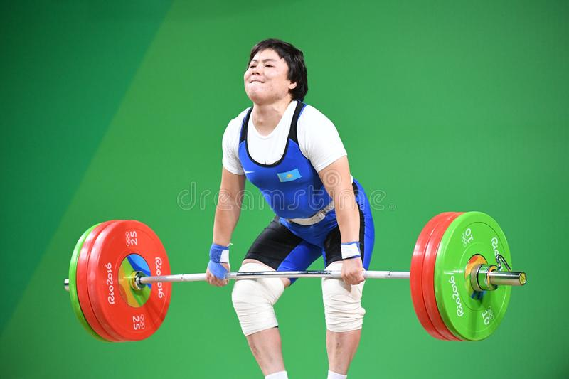 Weight Lifting. Olympic Games 2016- Weight Lifting royalty free stock photos