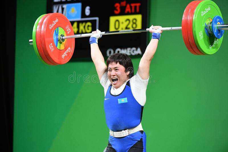 Weight Lifting. Olympic Games 2016- Weight Lifting stock images