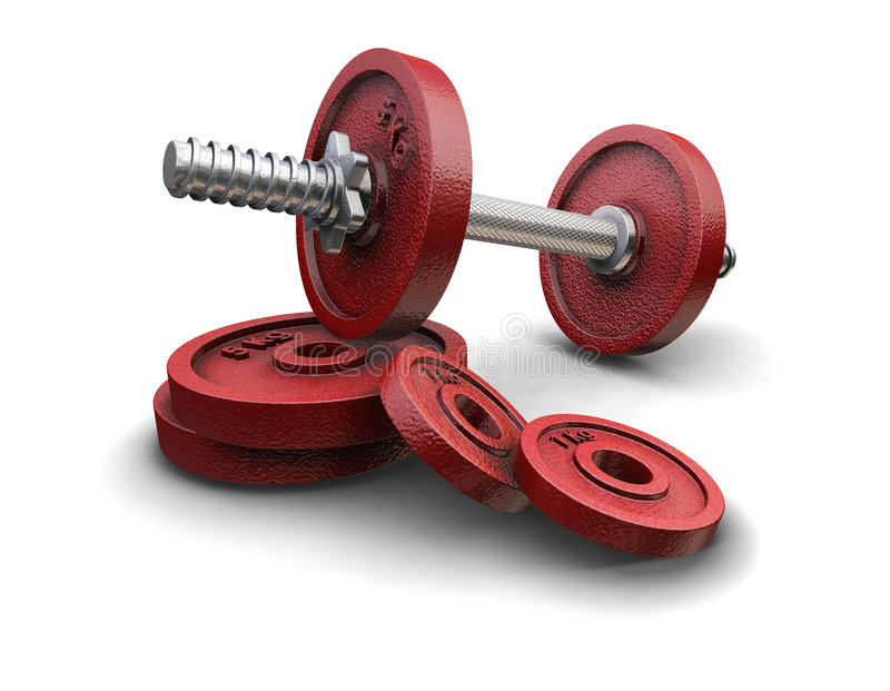 Weight lifting weights royalty free illustration