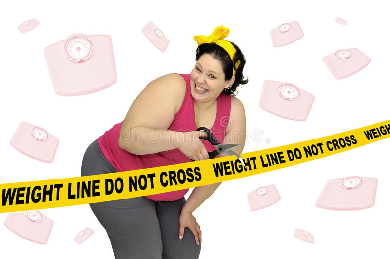 Weight line do not cross stock photography