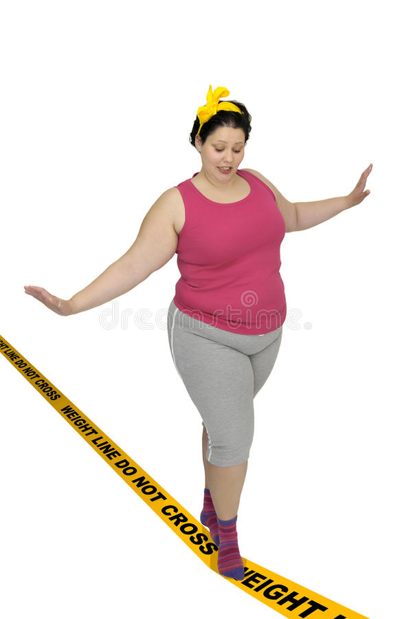 Weight line do not cross royalty free stock photo