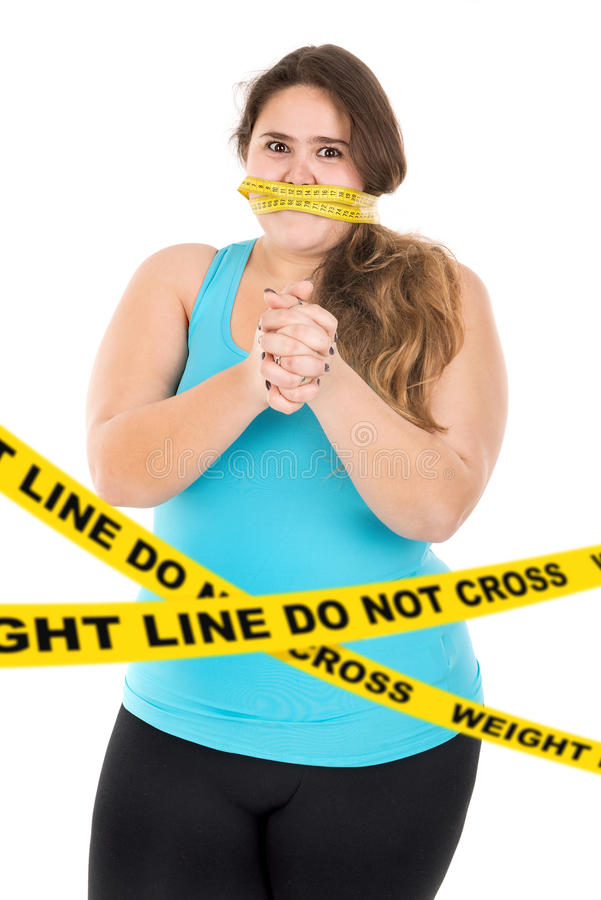 Weight line, do not cross stock image
