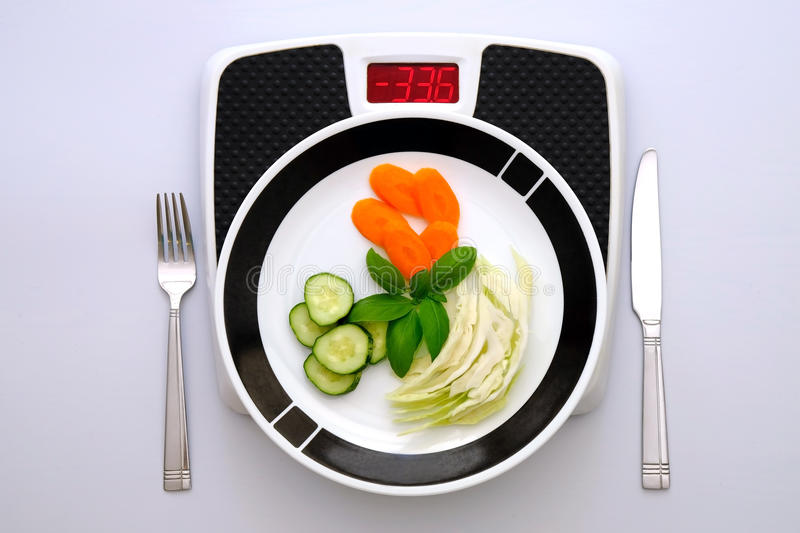 Weight loosing diet concept royalty free stock images