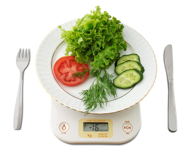 Weight Loss Comuter Concept Royalty Free Stock Photography