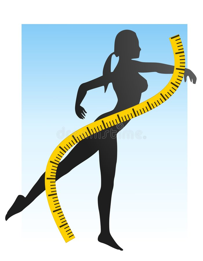 Weight Loss Fitness Silhouette stock illustration