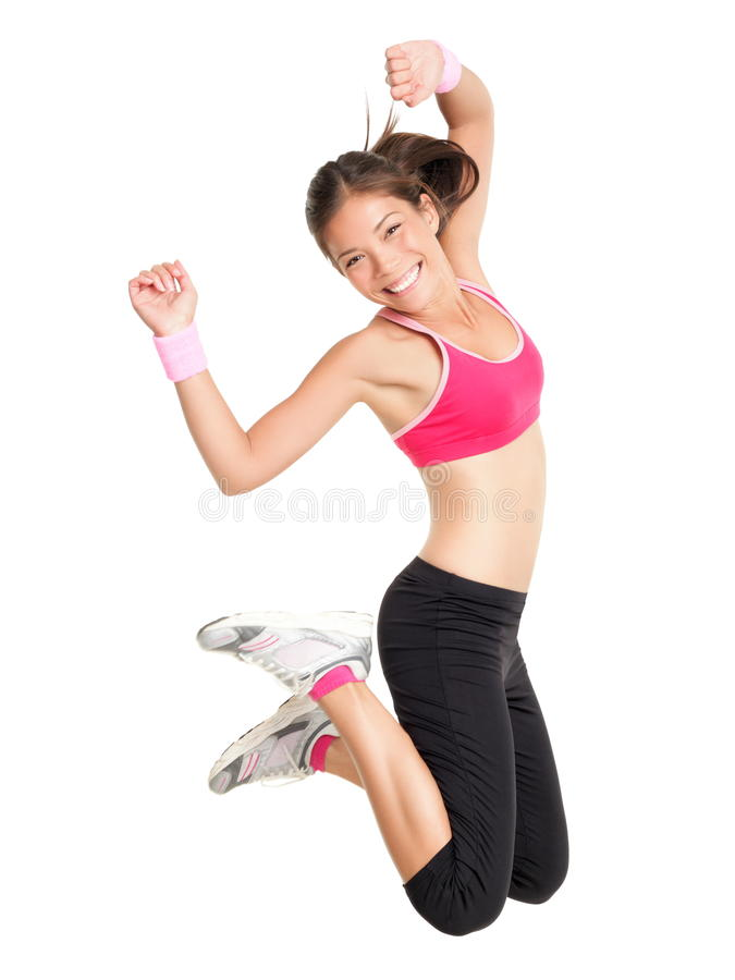 Download Weight Loss Fitness Woman Jumping Stock Photo - Image of multiracial, exercise: 18900776