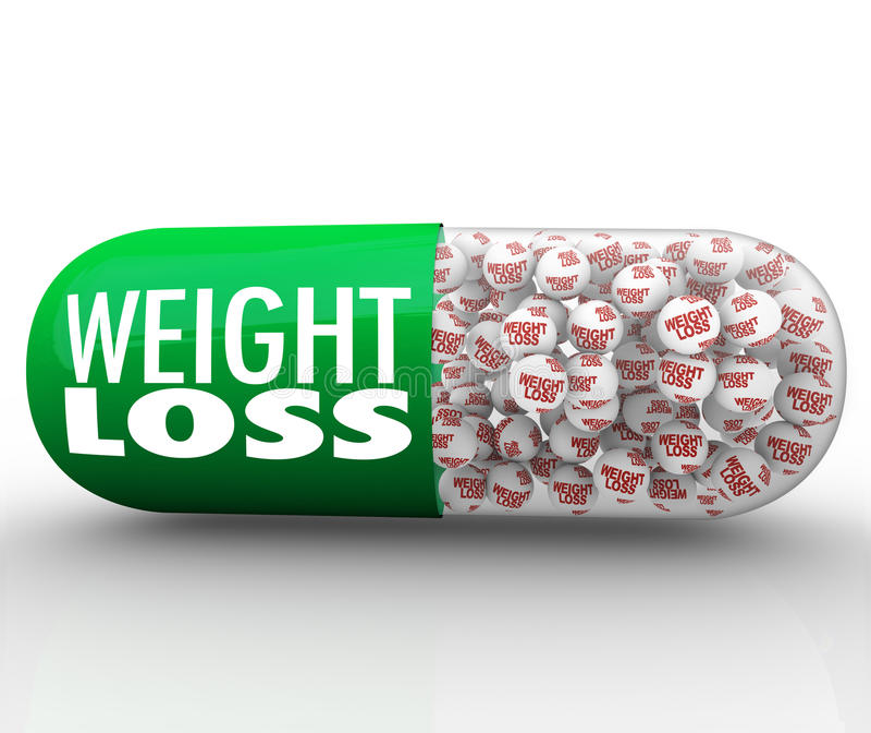 Weight Loss Medicine Capsule Pill Medical Diet Supplement vector illustration